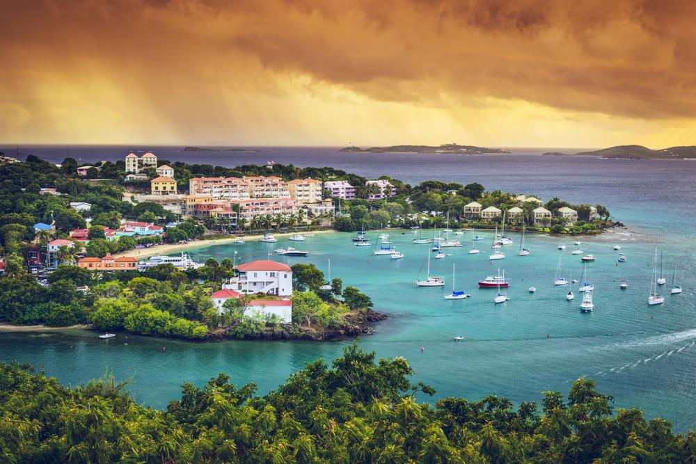 St. John, US Virgin Island at Cruz Bay.